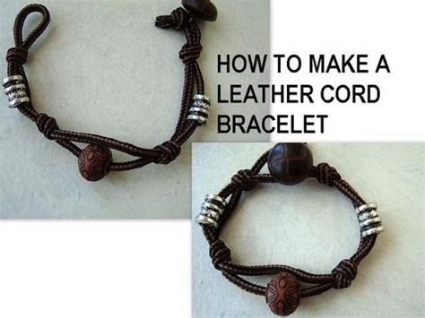 how to make jewelry with leather cord make a and easy cord bracelet friendship bracelet