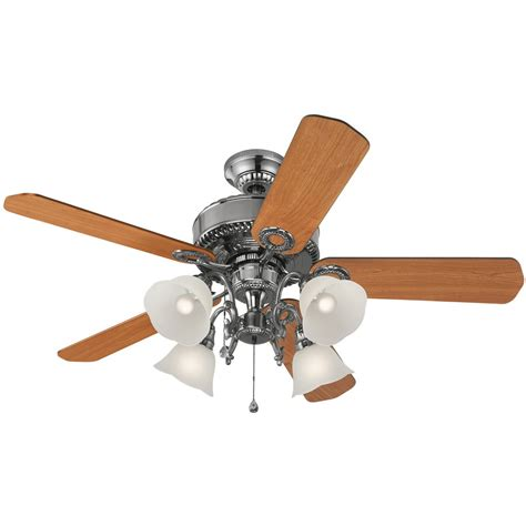 Lowes Ceiling Fans With Lights Shop Harbor 52 In Edenton Polished Pewter Ceiling Fan With Light Kit At Lowes