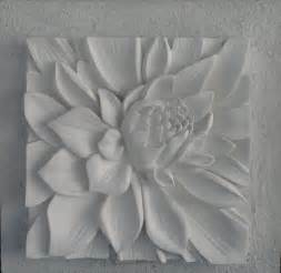 Lotus Tile 3d Sculptural With Textured Background Lotus Flower