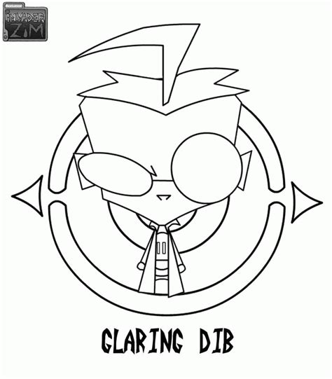 invader zim coloring pages coloringpagesabc com