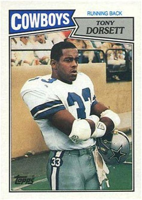 football cards value 1987 topps tony dorsett 263 football card value price guide