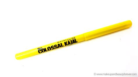 Eyeliner Coloasal Kajal Maybelline maybelline colossal kajal 12 hour formula review india