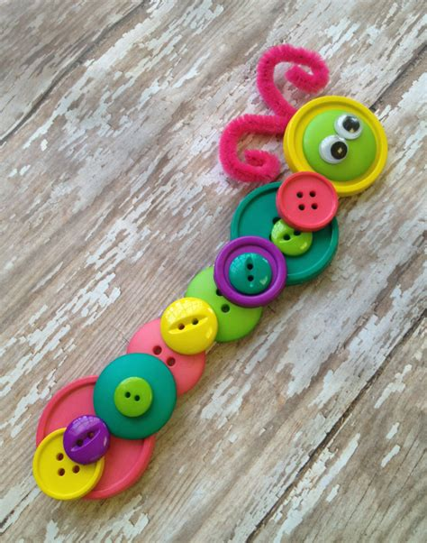 button crafts for button caterpillar craft lifestyle