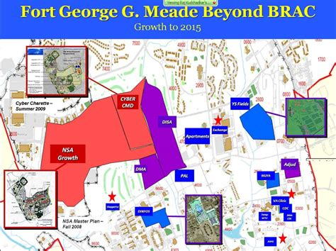 maryland map fort meade ft meade expects 10 000 new workers by 2020 lexleader