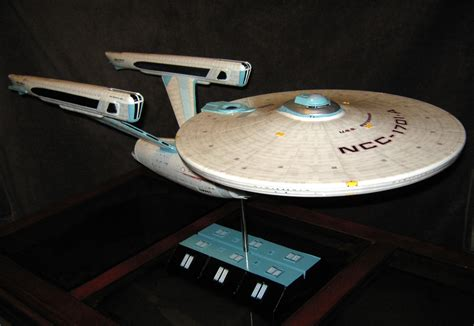 starship enterprise model with lights polar lights 1 350 scale star trek enterprise ncc 1701 a