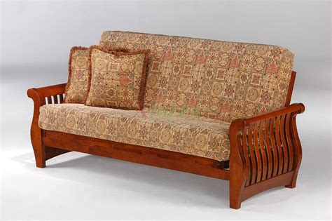 okc futon nightfall futon night and day nightfall wood futon beds