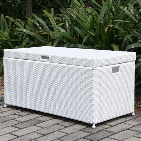 Patio Deck Storage by Jeco Wicker Patio Storage Deck Box In White Ori003 B