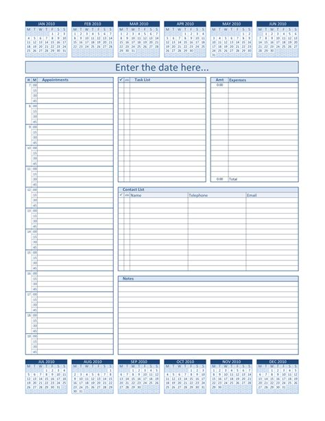 best template free daily planner template free free business template