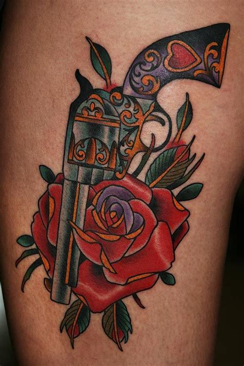 gun and rose tattoos 87 best images about tatts on