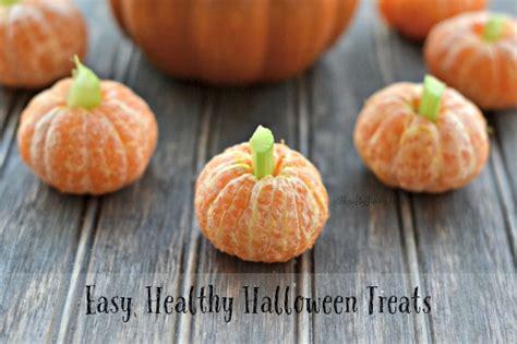 easy healthy halloween treats clementine pumpkins and