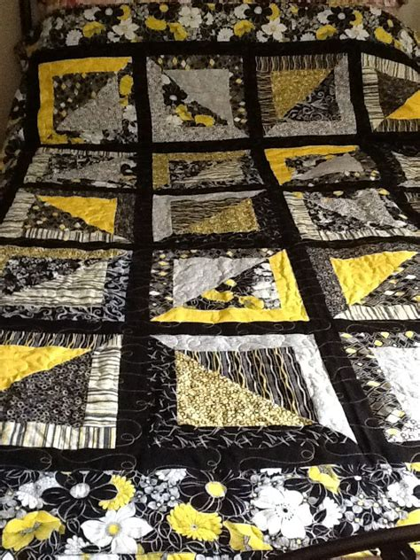 pattern for black magic yellow and black magic squares quilt patterns pinterest
