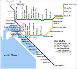 San Diego Train Map by Wfc 2011 Trolly