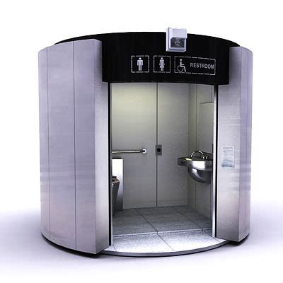 self cleaning bathroom self cleaning public toilet interior 3d 3ds