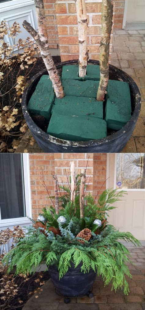 winter yard decorations 24 colorful outdoor planters for winter and