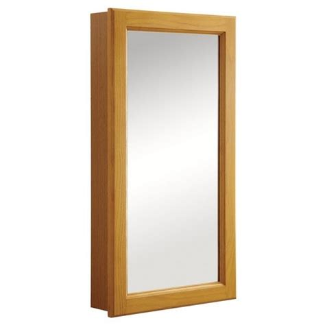oak medicine cabinet with mirror design house 545269 claremont honey oak medicine cabinet