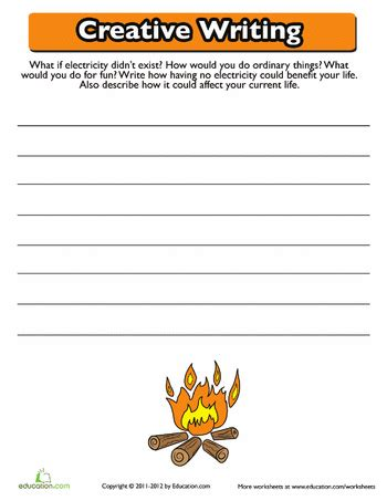 Creative Writing Worksheets For Grade 7 by Creative Writing Prompts 3rd Grade Worksheets