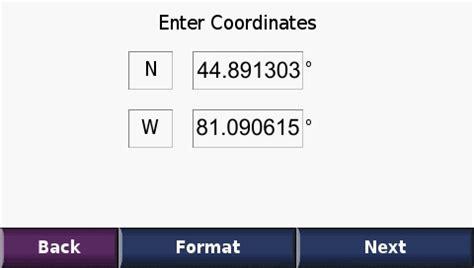 how to write gps coordinates
