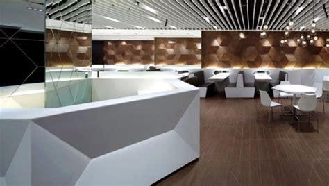 Modern Bathroom Designs geometric shapes embossing a modern restaurant design