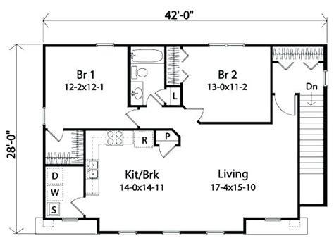 2 bedroom bath garage apartment plans