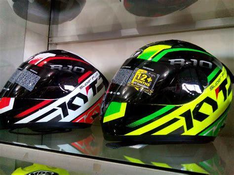 Helm Kyt R10 Orange Fullface Visor jual helm kyt r10 motif black green yellow fullface r 10 fluo galeri helm indonesia