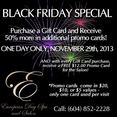 Black Friday Gift Card Specials - black friday special november 29th purchase a gift card on this day and receive