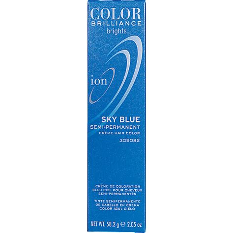 ion color brilliance sky blue ion color brilliance semi permanent brights hair color