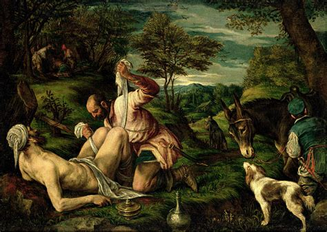 The Wall A Parable the parable of the samaritan painting by francesco