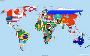 flags on the world map wallpapers and images wallpapers