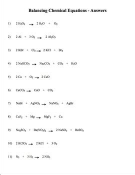 balancing chemical equations practice worksheet equations alistairtheoptimist free worksheet