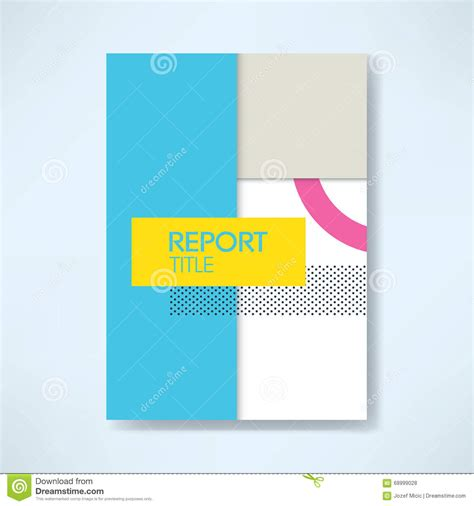 Anting Tusuk Inspired Shape Design report cover template in modern material design style with geometric shapes stock vector