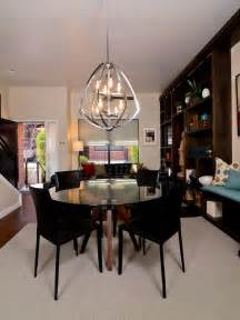 Pendant Dining Room Lighting Glass Topped Dining Table And Globe Pendant Light Designers Portfolio Hgtv Home Garden