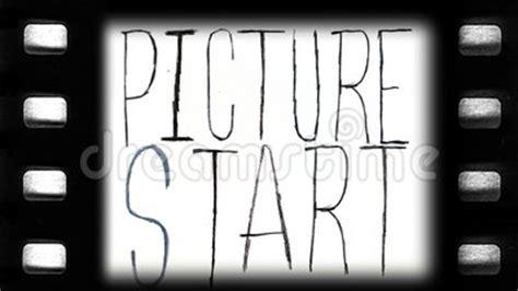 vintage style film leader stock video footage video