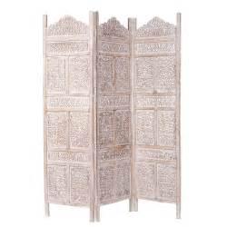 paravent en manguier blanchi l 150 cm udaipur maisons du