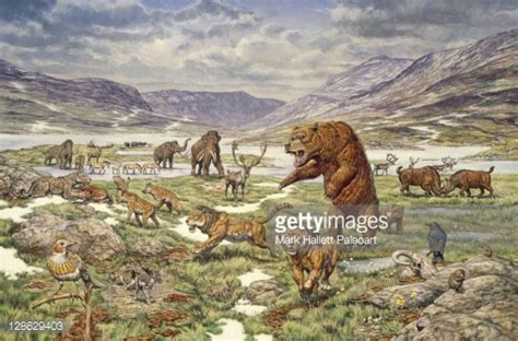 animal during great ice age pleistocene age animals miscellaneous species stock