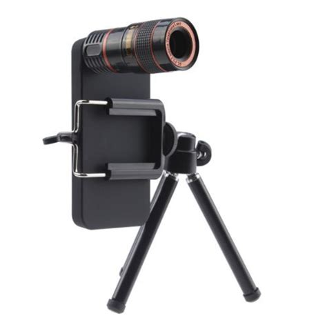 mobile phone telescope lens 8x optical zoom with universal cl for iphone 5 5s se