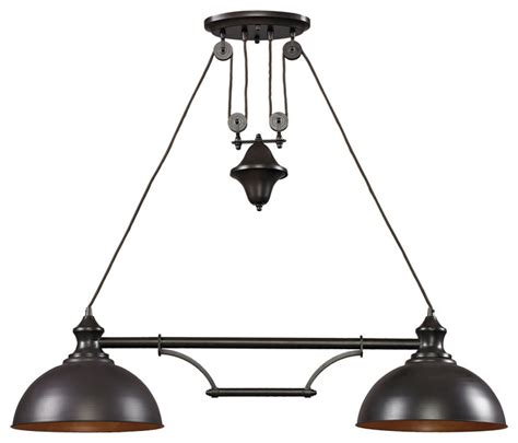 Industrial Kitchen Island Lighting Farmhouse 2 Light Island Bronze Industrial Kitchen Island Lighting By Directsinks