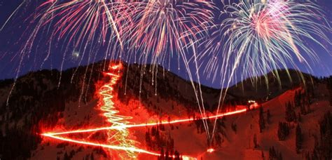 utah fireworks new year torchlight parade fireworks at alta new year s