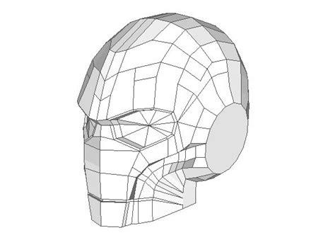 steunk style iron man s helmet papercraft free template