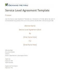 Itil Service Level Agreement Template Service Level Agreement Template