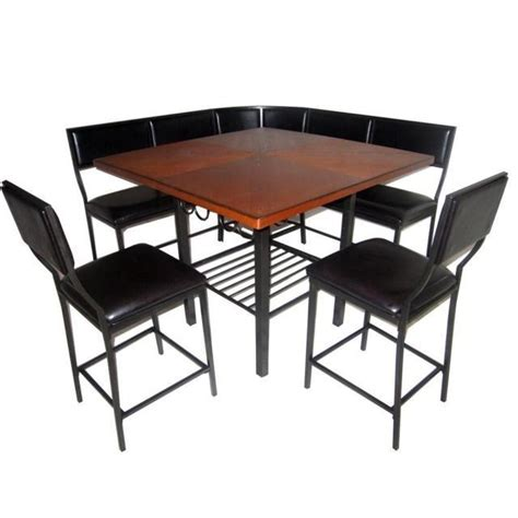 7 corner nook dining set room kitchen table chair