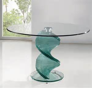 Dining Glass Tables Twirl Clear Glass Dining Table Dining Table And Chairs Dining Sets