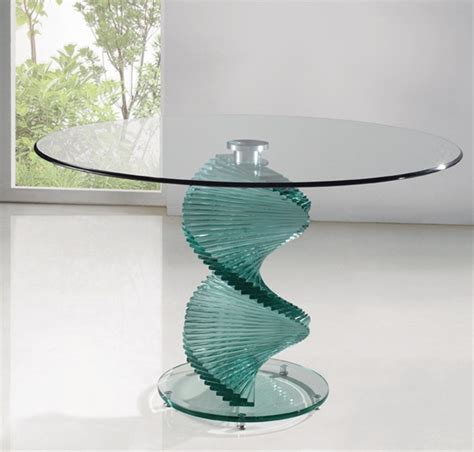 Clear Glass Dining Table Twirl Clear Glass Dining Table Dining Table And Chairs Dining Sets