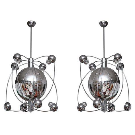 Gigantic Pair Of Italian Chrome Sputnik Light Fixtures At Italian Light Fixtures