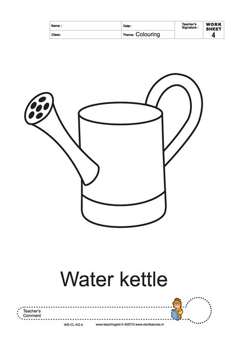 water pot coloring page water pot outline activity manager cover letter