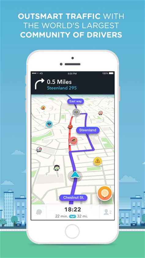 waze gps navigation maps real time traffic on the app store