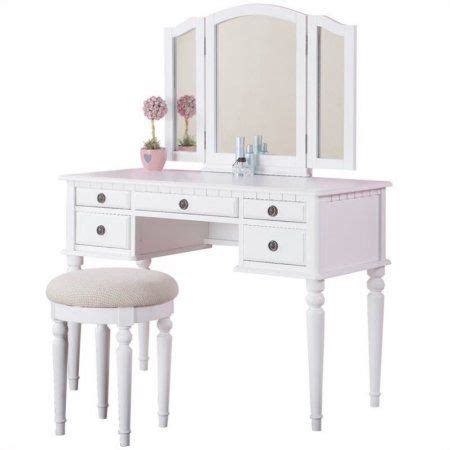 Poundex Bobkona St Croix Vanity Set With Stool In White by 64 Best Furniture Images On