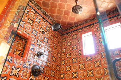 mexican tile bathroom designs mexican tile mediterranean bathroom by clay imports
