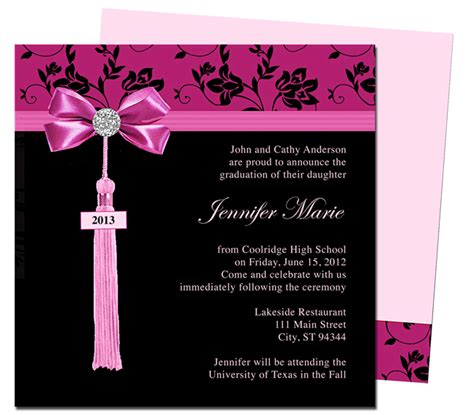 graduation invitation templates microsoft word graduation announcements templates tristarhomecareinc