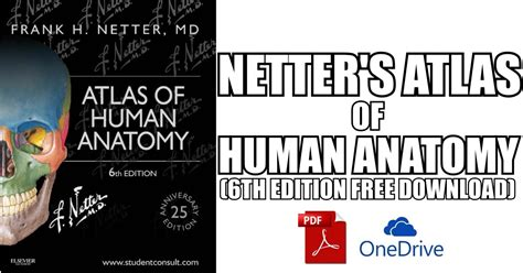 Atlas Of Human Anatomy Frank H Netter 6th Edition netter s atlas of human anatomy 6th edition pdf free