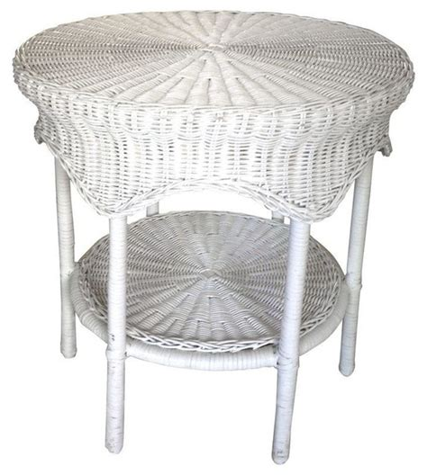 wicker accent table wicker accent table belvedere wicker patio accent table